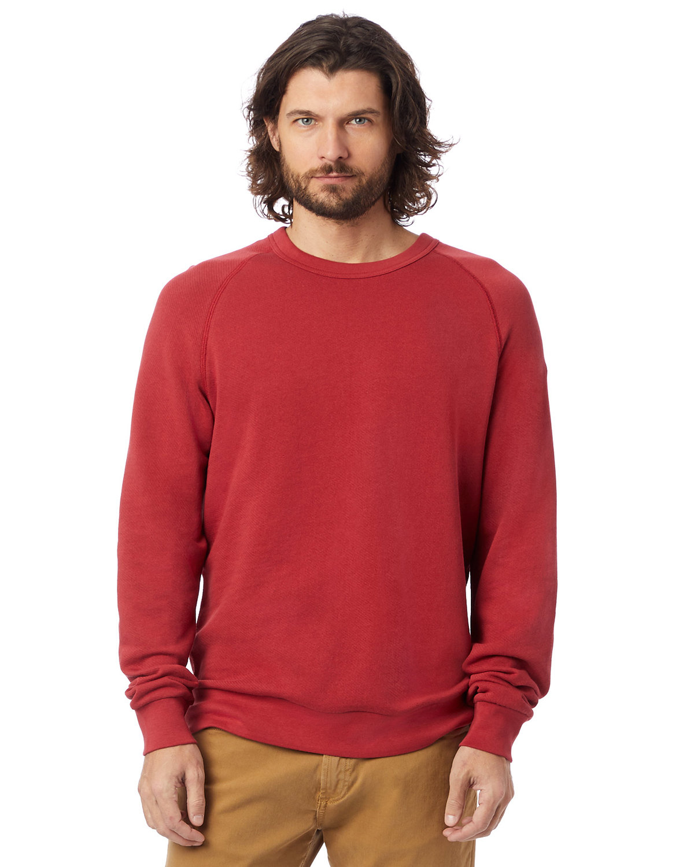 Alternative Unisex 6.5 oz., Champ Washed French Terry Crewneck Sweatshirt FADED RED