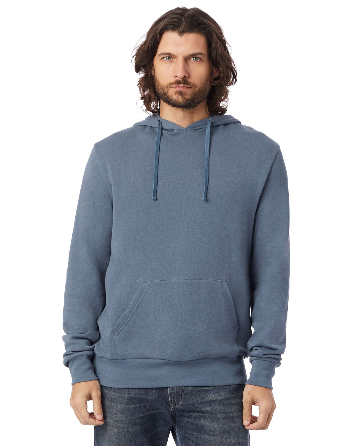 Alternative Unisex 6.5 oz., Challenger Washed French Terry Pullover Hooded Sweatshirt WASHED DENIM