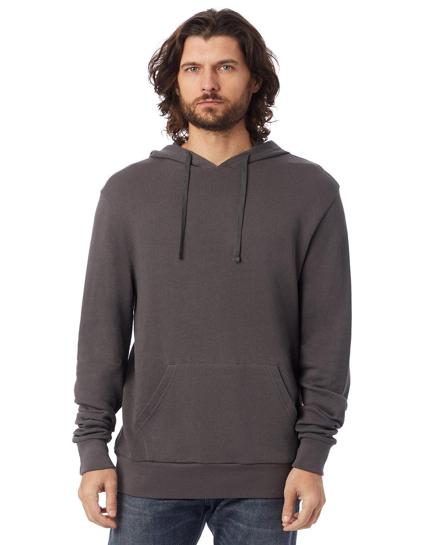 Alternative Unisex 6.5 oz., Challenger Washed French Terry Pullover Hooded Sweatshirt DARK GREY