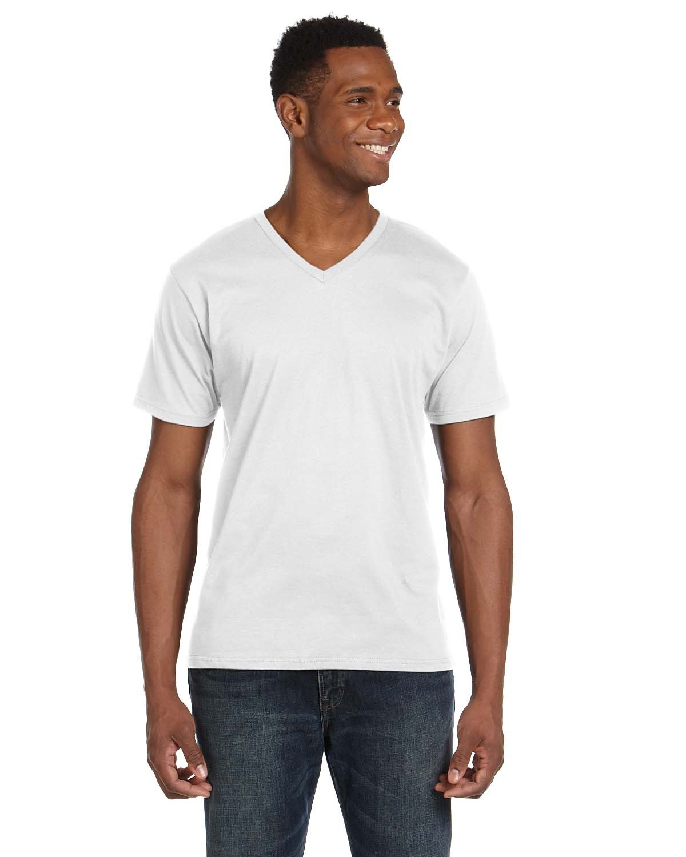 Anvil Adult Lightweight V-Neck T-Shirt WHITE