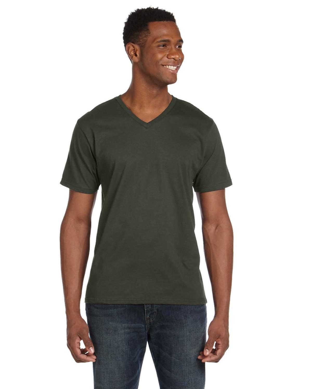 Anvil Adult Lightweight V-Neck T-Shirt CITY GREEN