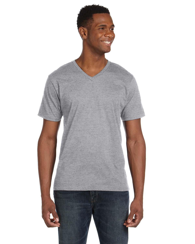Anvil Adult Lightweight V-Neck T-Shirt HEATHER GREY