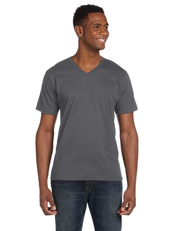 Anvil Adult Lightweight V-Neck T-Shirt CHARCOAL