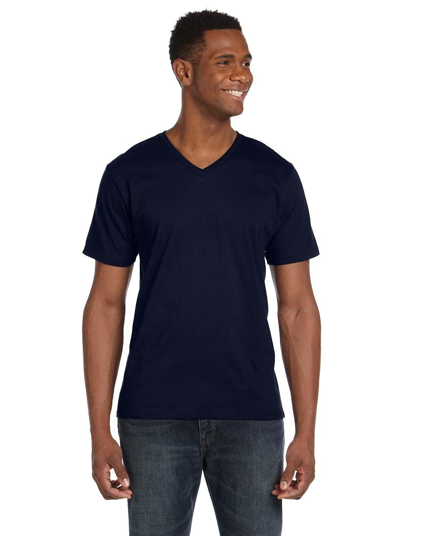 Anvil Adult Lightweight V-Neck T-Shirt NAVY