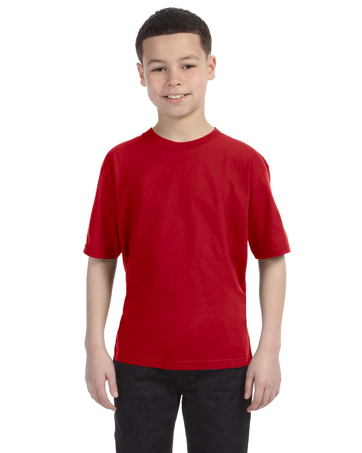 Anvil Youth Lightweight T-Shirt RED