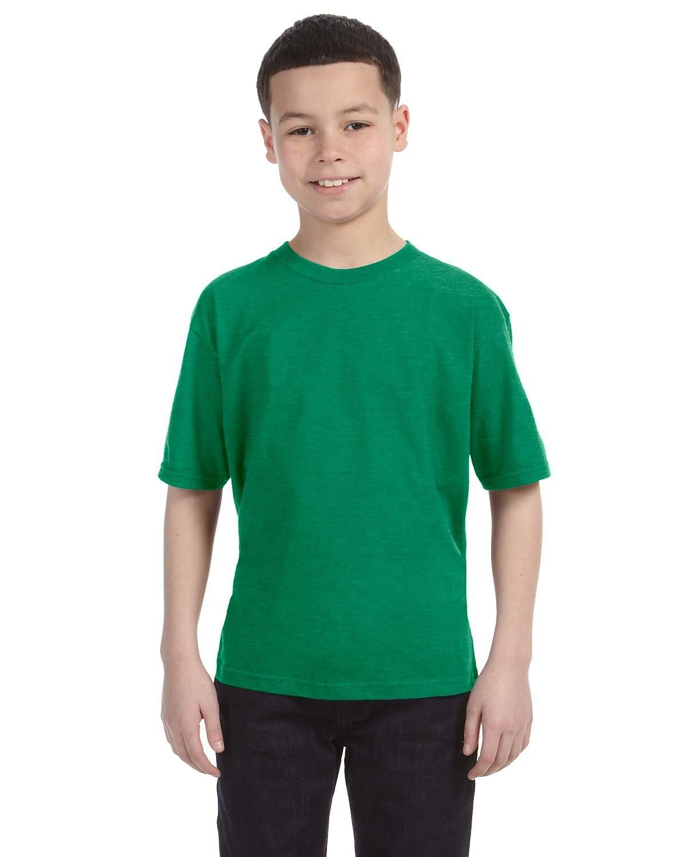 Anvil Youth Lightweight T-Shirt HEATHER GREEN