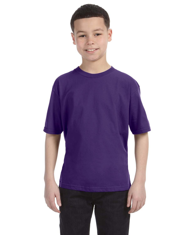 Anvil Youth Lightweight T-Shirt PURPLE