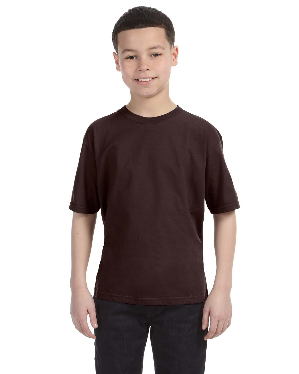 Anvil Youth Lightweight T-Shirt CHOCOLATE