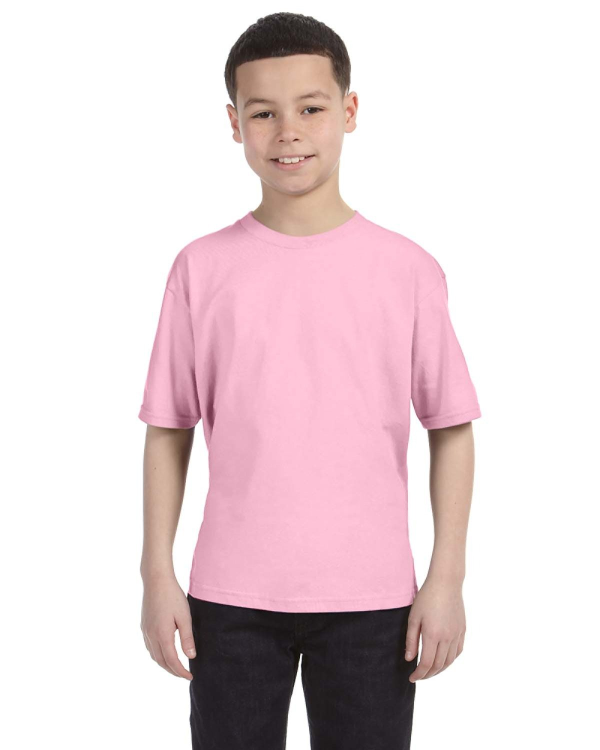 Anvil Youth Lightweight T-Shirt CHARITY PINK
