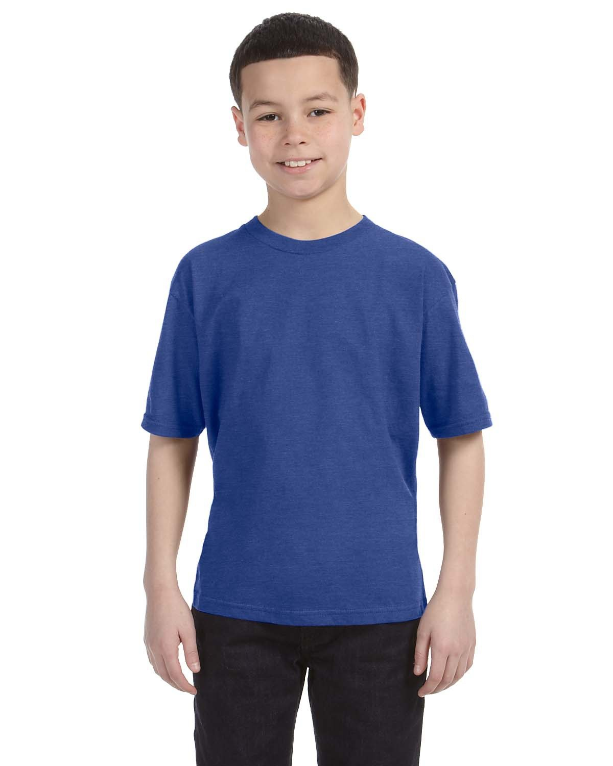 Anvil Youth Lightweight T-Shirt HEATHER BLUE