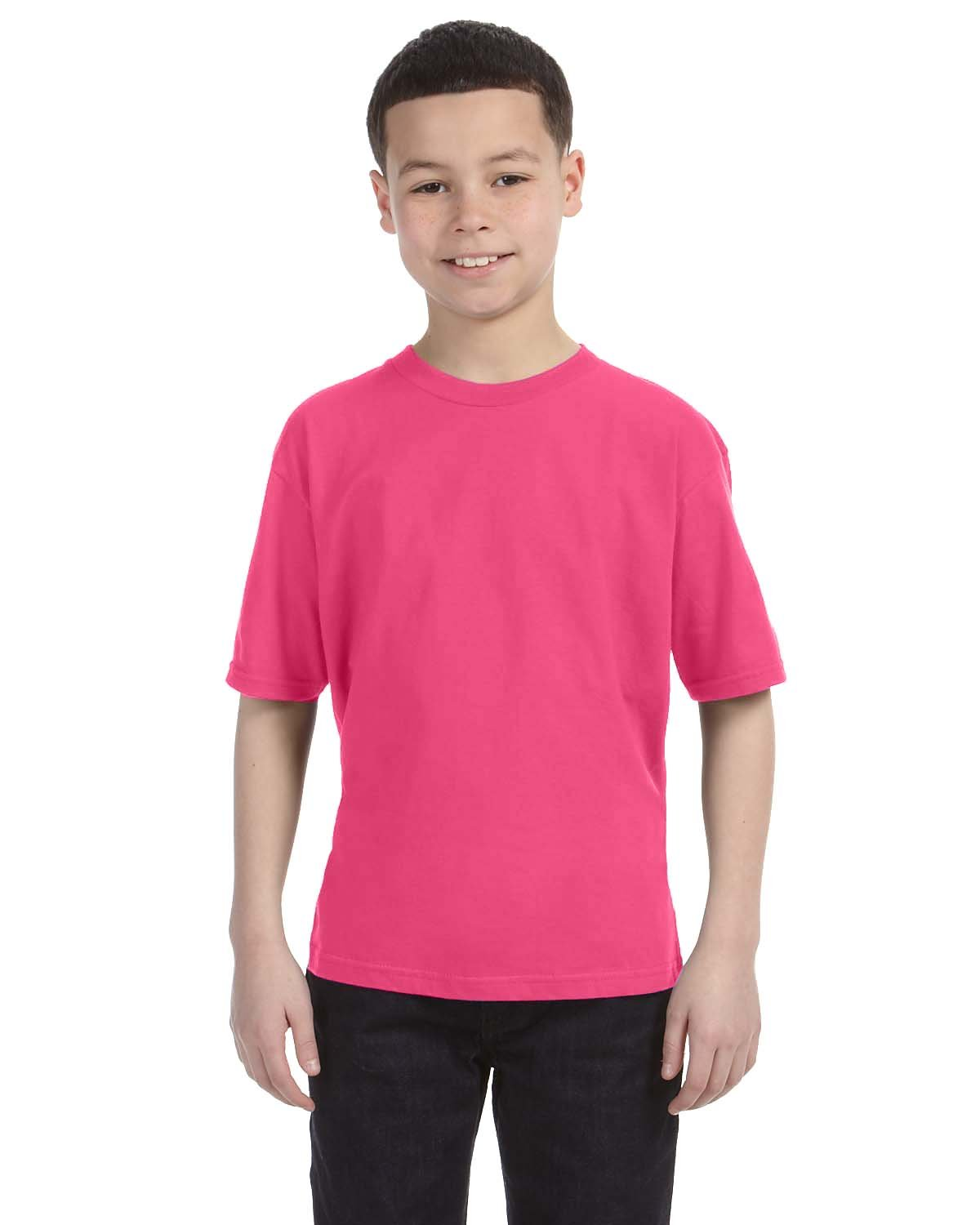 Anvil Youth Lightweight T-Shirt NEON PINK