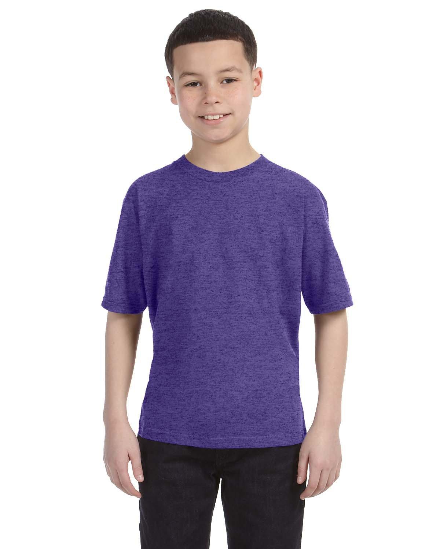 Anvil Youth Lightweight T-Shirt HEATHER PURPLE