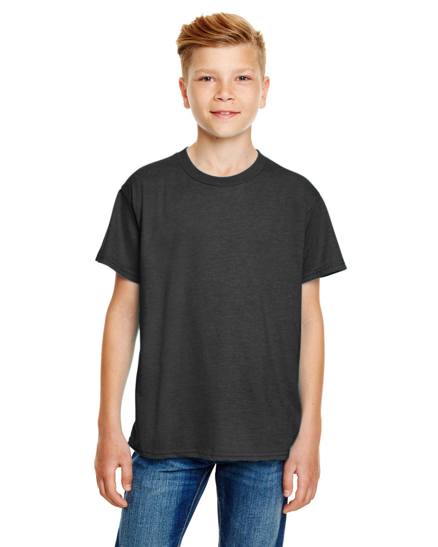 Anvil Youth Lightweight T-Shirt HEATHER DARK GRY