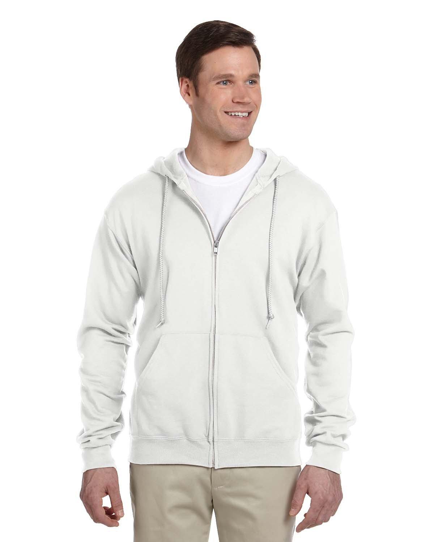 Jerzees Adult NuBlend® Fleece Full-Zip Hooded Sweatshirt WHITE