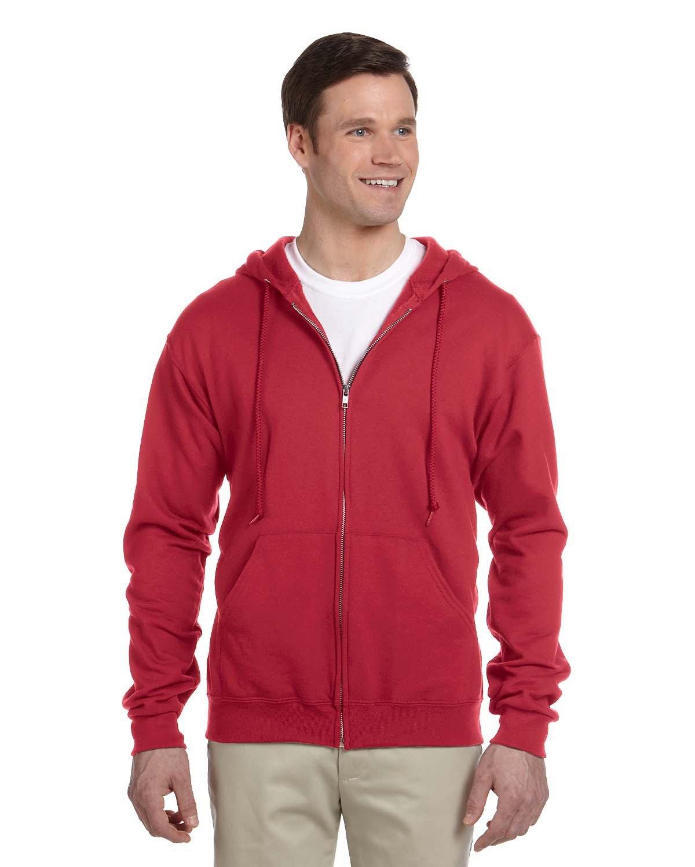 Jerzees Adult NuBlend® Fleece Full-Zip Hooded Sweatshirt TRUE RED
