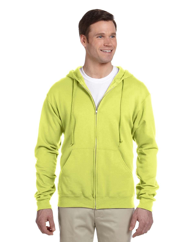 Jerzees Adult NuBlend® Fleece Full-Zip Hooded Sweatshirt SAFETY GREEN