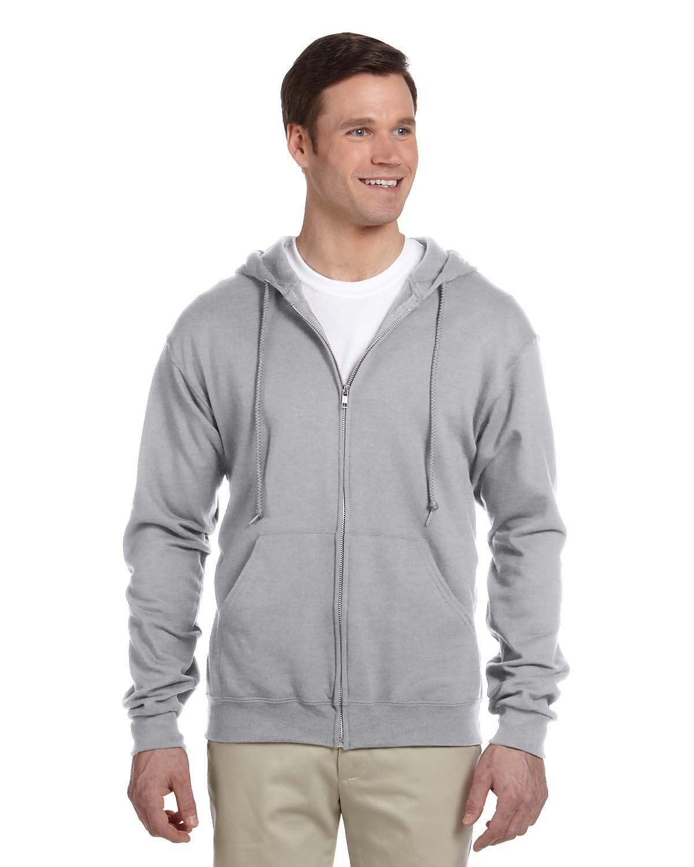 Jerzees Adult NuBlend® Fleece Full-Zip Hooded Sweatshirt OXFORD