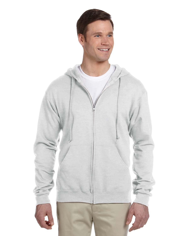 Jerzees Adult NuBlend® Fleece Full-Zip Hooded Sweatshirt ASH