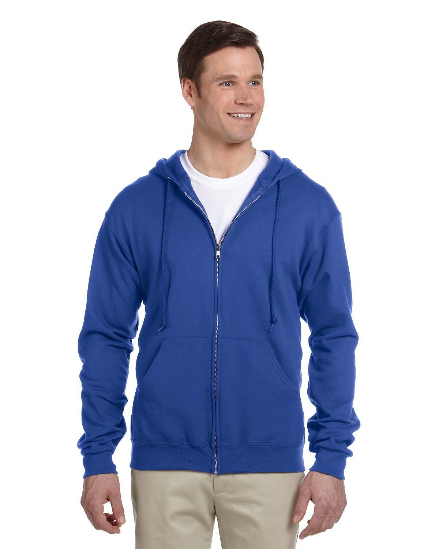 Jerzees Adult NuBlend® Fleece Full-Zip Hooded Sweatshirt ROYAL