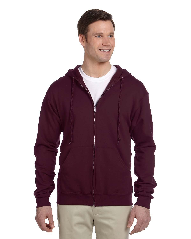 Jerzees Adult NuBlend® Fleece Full-Zip Hooded Sweatshirt MAROON