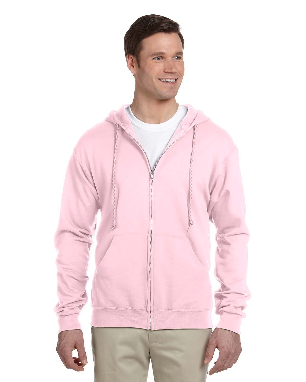 Jerzees Adult NuBlend® Fleece Full-Zip Hooded Sweatshirt CLASSIC PINK