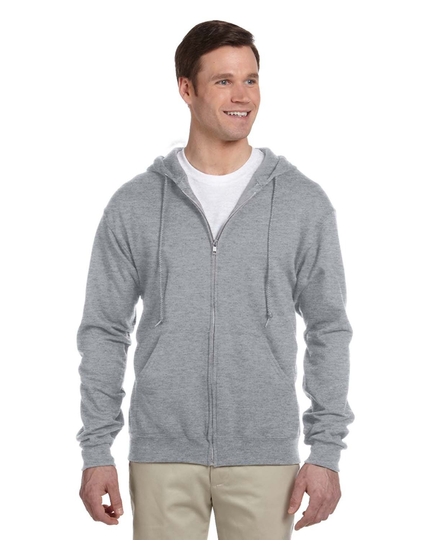 Jerzees Adult NuBlend® Fleece Full-Zip Hooded Sweatshirt ATHLETIC HEATHER
