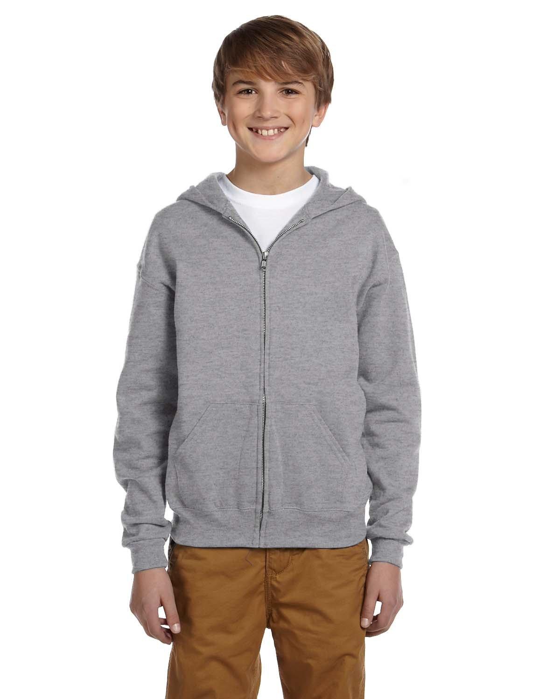 Jerzees Youth NuBlend® Fleece Full-Zip Hooded Sweatshirt OXFORD