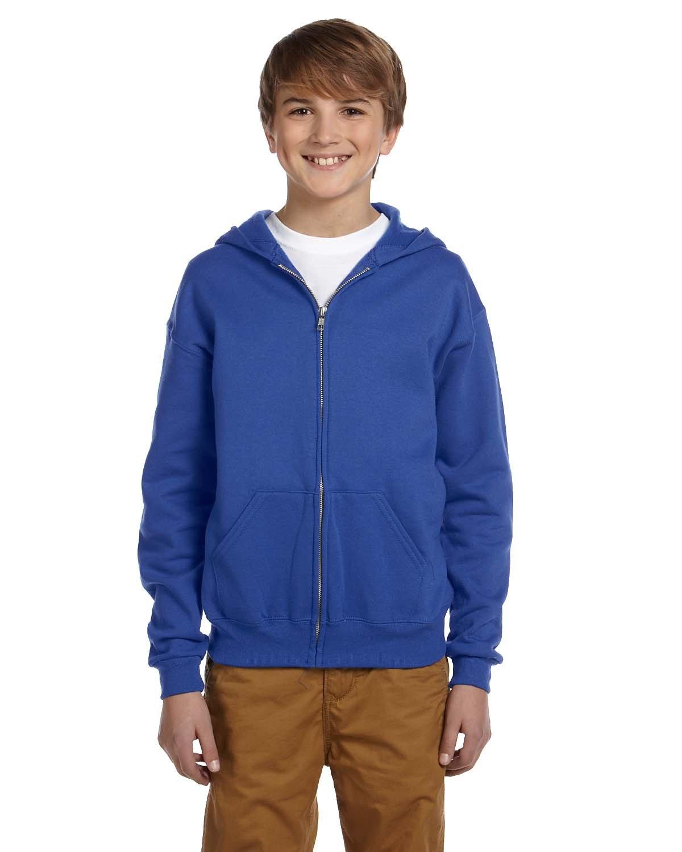 Jerzees Youth NuBlend® Fleece Full-Zip Hooded Sweatshirt ROYAL