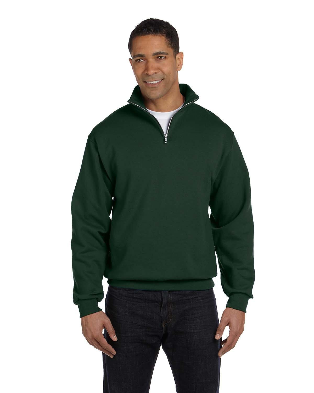 Jerzees Adult NuBlend® Quarter-Zip Cadet Collar Sweatshirt FOREST GREEN