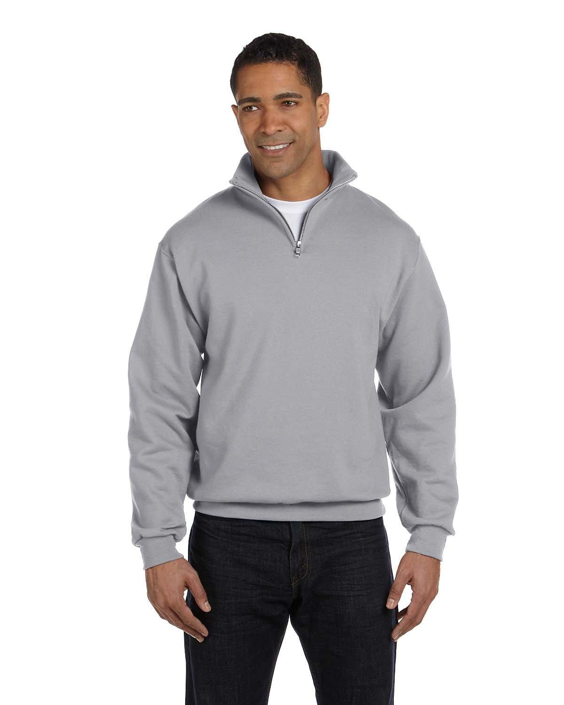 Jerzees Adult NuBlend® Quarter-Zip Cadet Collar Sweatshirt OXFORD