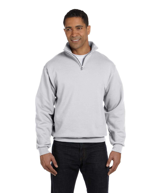 Jerzees Adult NuBlend® Quarter-Zip Cadet Collar Sweatshirt ASH