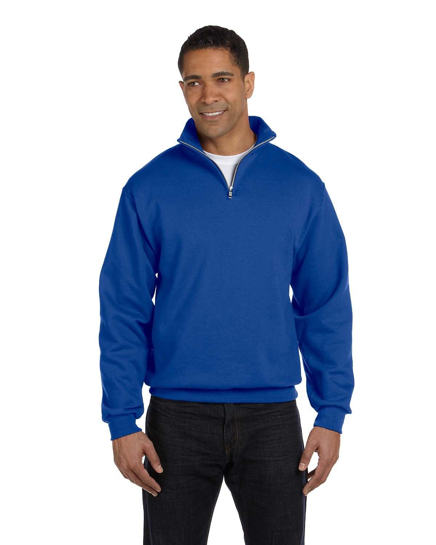 Jerzees Adult NuBlend® Quarter-Zip Cadet Collar Sweatshirt ROYAL