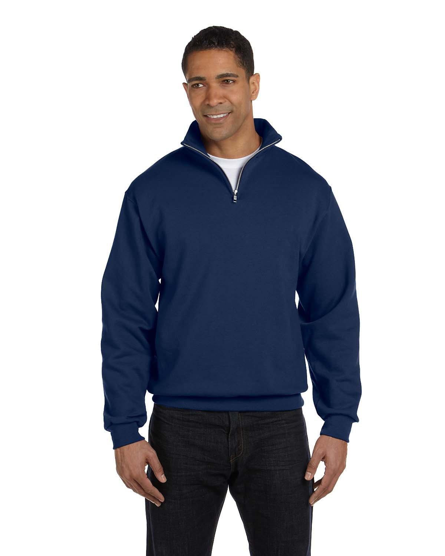 Jerzees Adult NuBlend® Quarter-Zip Cadet Collar Sweatshirt J NAVY