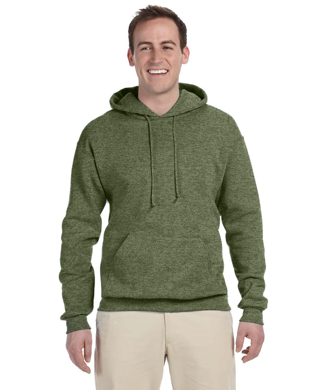 Jerzees Adult NuBlend® FleecePullover Hooded Sweatshirt MILITARY GRN HTH