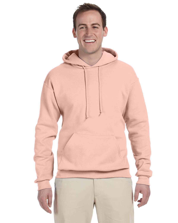 Jerzees Adult NuBlend® FleecePullover Hooded Sweatshirt BLUSH PINK