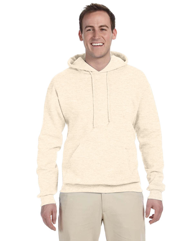 Jerzees Adult NuBlend® FleecePullover Hooded Sweatshirt SWEET CREAM HTH