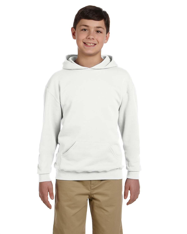 Jerzees Youth NuBlend® Fleece Pullover Hooded Sweatshirt WHITE