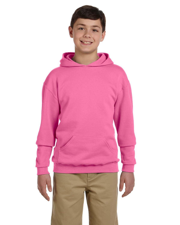 Jerzees Youth NuBlend® Fleece Pullover Hooded Sweatshirt NEON PINK