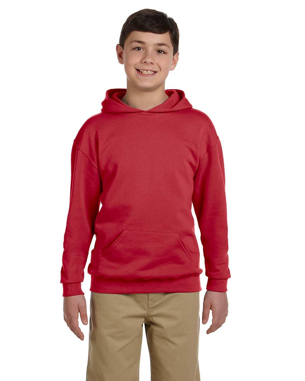 Jerzees Youth NuBlend® Fleece Pullover Hooded Sweatshirt TRUE RED