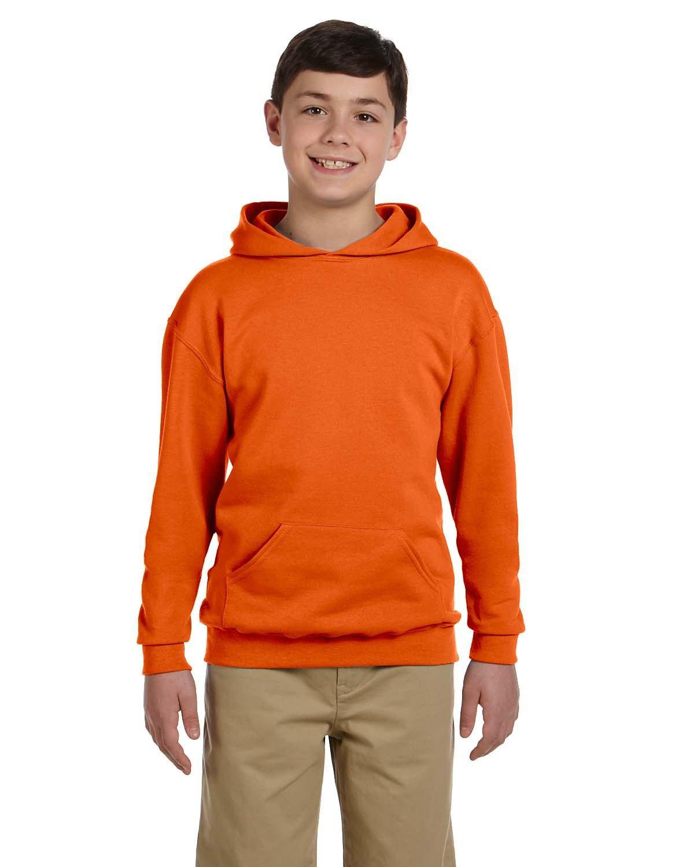 Jerzees Youth NuBlend® Fleece Pullover Hooded Sweatshirt SAFETY ORANGE