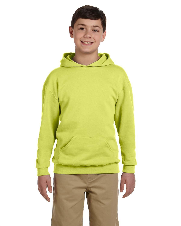 Jerzees Youth NuBlend® Fleece Pullover Hooded Sweatshirt SAFETY GREEN