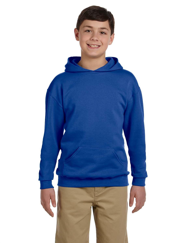 Jerzees Youth NuBlend® Fleece Pullover Hooded Sweatshirt ROYAL