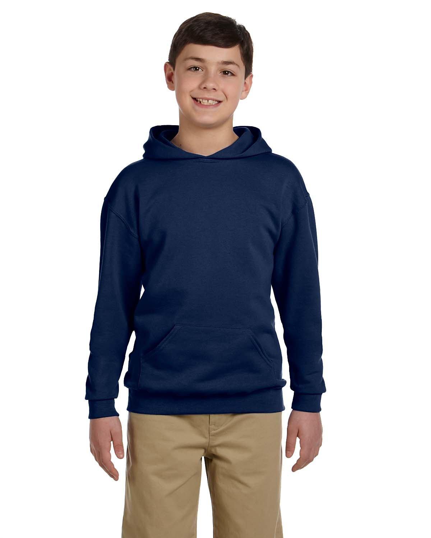 Jerzees Youth NuBlend® Fleece Pullover Hooded Sweatshirt J NAVY