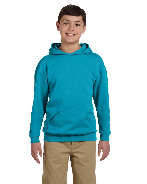 Jerzees Youth NuBlend® Fleece Pullover Hooded Sweatshirt CALIFORNIA BLUE