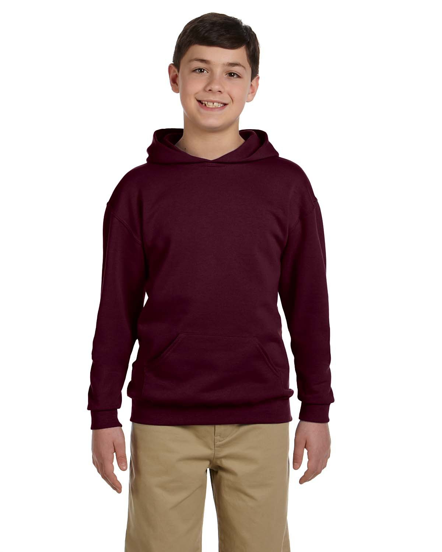 Jerzees Youth NuBlend® Fleece Pullover Hooded Sweatshirt MAROON