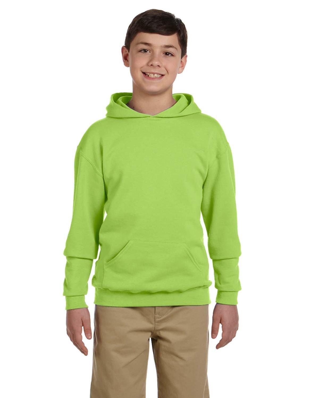 Jerzees Youth NuBlend® Fleece Pullover Hooded Sweatshirt NEON GREEN