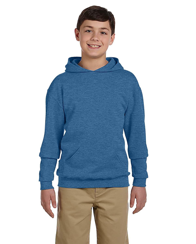 Jerzees Youth NuBlend® Fleece Pullover Hooded Sweatshirt VINT HTR BLUE