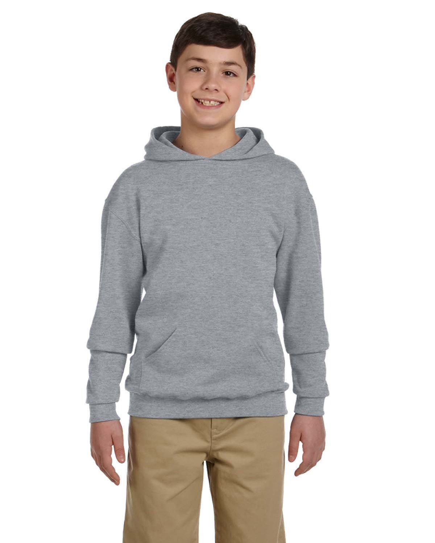 Jerzees Youth NuBlend® Fleece Pullover Hooded Sweatshirt ATHLETIC HEATHER