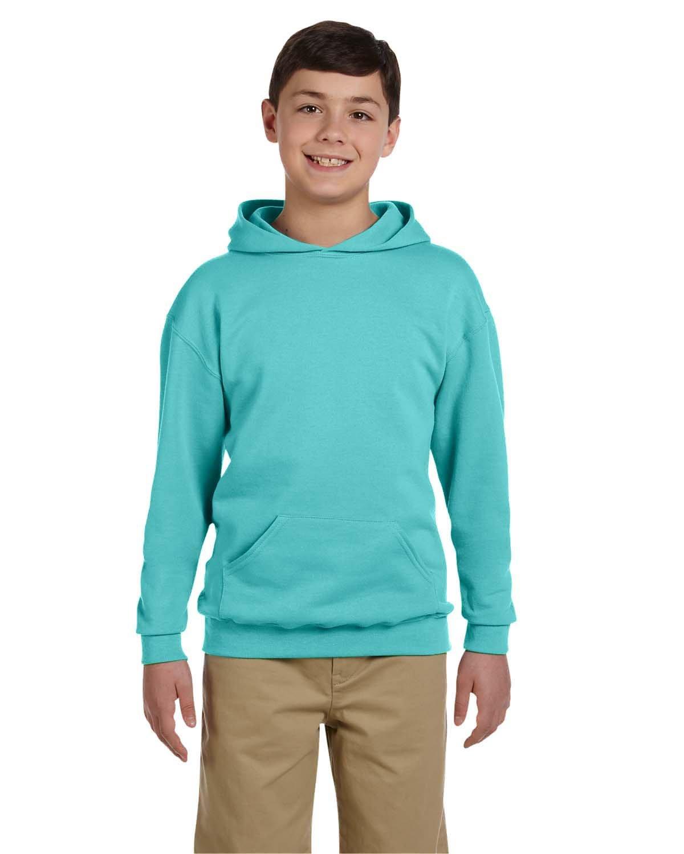 Jerzees Youth NuBlend® Fleece Pullover Hooded Sweatshirt SCUBA BLUE