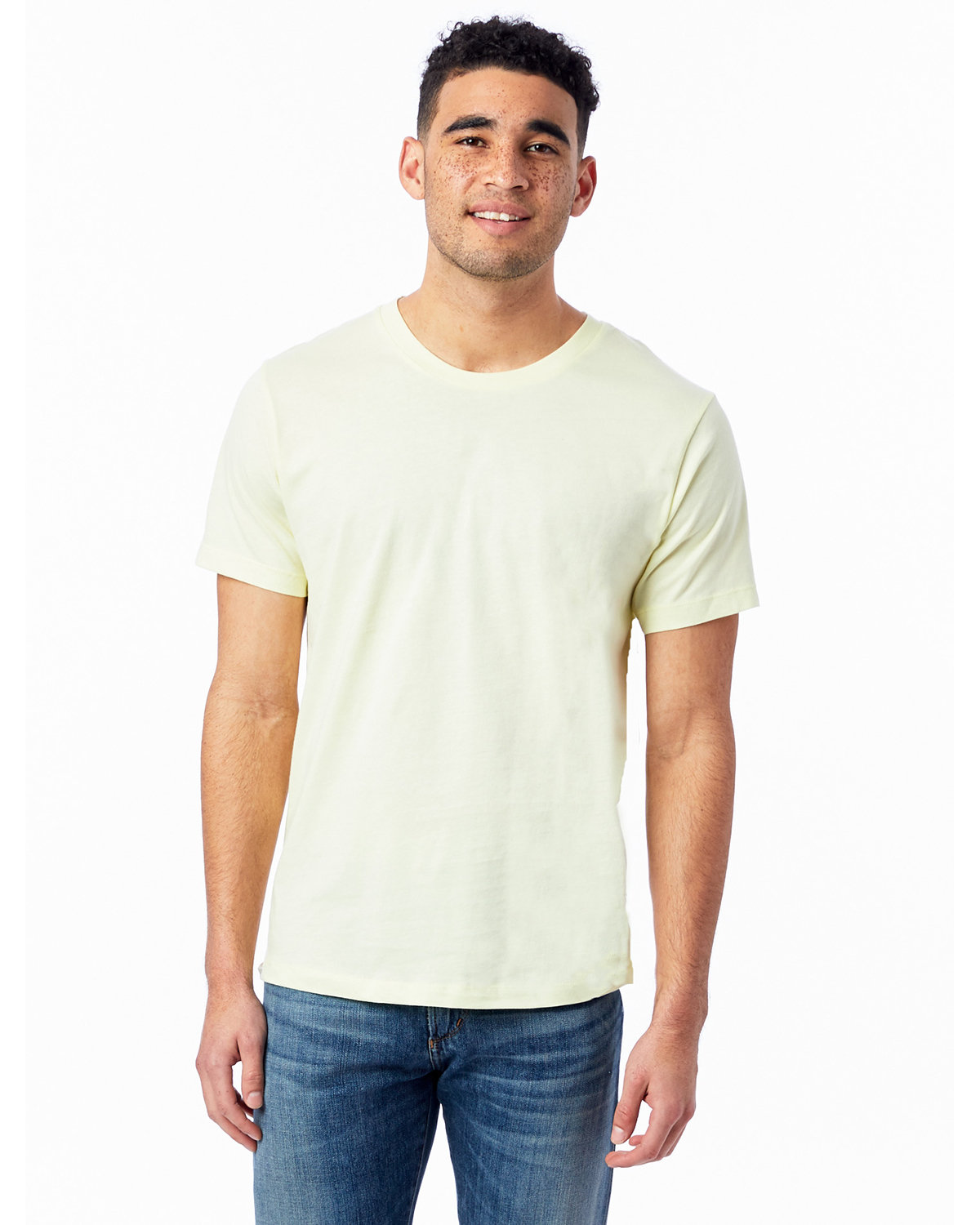 Alternative Unisex Go-To T-Shirt PALE YELLOW